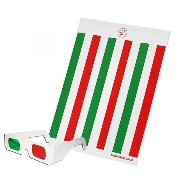 Maska antysupresyjna + okulary czerwono-zielone