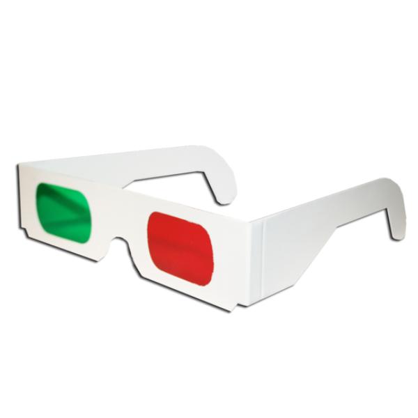 okulary czerwono zielone